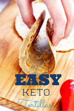"""This Keto Almond Flour Tortilla Recipe is simple to make and is the perfect soft, pliable tortilla for tacos, quesadillas, and wraps. You won't believe how much like the """"real thing"""" these are in taste and texture. Try them once, and you will be hooked! #ketotortilla #almondflour Almond Flour Tortilla Recipe, Recipes With Flour Tortillas, Keto Tortillas, Low Carb Bread, Keto Bread, Keto Lunch Ideas, Recipes For Beginners, Quesadillas, Perfect Food"""
