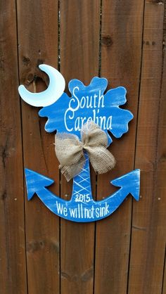 Palmetto Anchor door/wall hanger http://scwoodworkart.com/product/sc-weathered-palmetto-anchor/