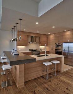Kitchen Island Storage, Kitchen Cabinet Design, Interior Design Kitchen, Home Design, Kitchen Islands, Design Ideas, Smart Design, Kitchen Organization, Design Styles