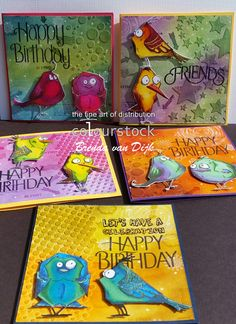 Colourstock: Crazy Birds en PanPastel