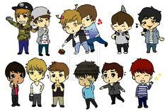 EXO chibi | Cute Chibi EXO ~ by ~kbyun on deviantART