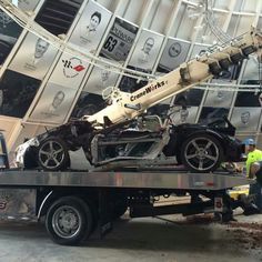 1.5 millionth Vette is out of the sinkhole and going into the Exhibit Hall. Where is the Mallett Hammer? :(