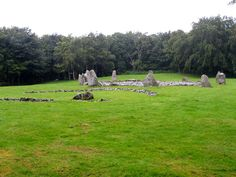 Stone Circle (right) and Cremation Cemetary (left), Loanhead of Daviot, Aberdeenshire, Scotland