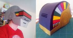Blog_Paper_Toy_papercraft_Daft_Punk_Helmets_Monster_and_Monster