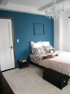 Charmant #38   Elizabeth And Steve Sensual Moody Bedroom. Teal Blue BedroomsPeacock  ...