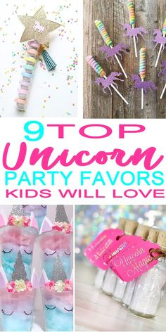 Unicorn Party Favor Ideas! The coolest and most magical party favors for a  Unicorn theme caf48ae14