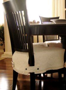 Slipcover Dining Room Chairs button tabs