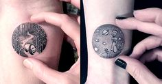 Awesome Circular Scenic Tattoos slightly bigger than a dime!