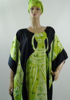 Tribal Caftan Kaftan Tunic Tassel Fringe African Batik Dress One Sz Neelam Fash  #NeelamFashions #Tunic #Casual