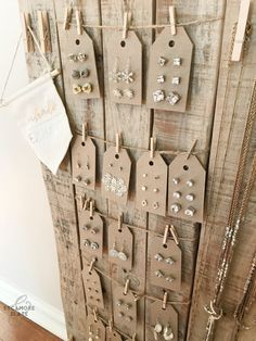DIY Earring Tags