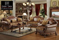 Living room furniture sets living room set chateau for Living room furniture 0 finance