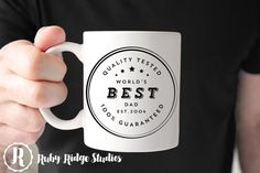 World's Best Dad Mug, Father's Day, Best Dad Ever, Tea Cup, Ceramic Mug, Personalised Gift, Christmas Gift, Under 50