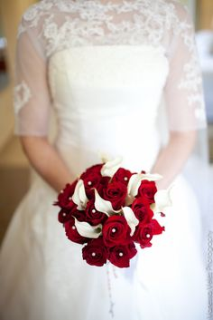 beautiful red bridal bouquet