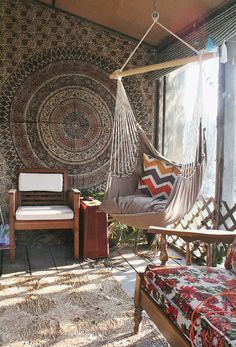 bohemian sunporch, what a great place to read this would be.