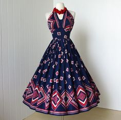 1950's dress ...fabulous designer ALEX COLMAN