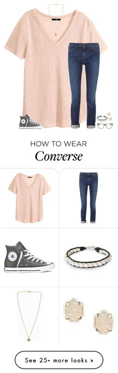"""the shade on this show though"" by secfashion13 on Polyvore featuring H&M, Karl Lagerfeld, Michael Kors, Converse, Prism, Kendra Scott and NOVICA"
