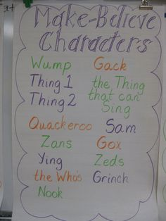 Dr. Seuss make believe characters
