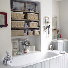 43 Practical Bathroom Organization Ideas | Shelterness - lots of bathroom storage ideas!