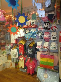 Our store.xx  Baby clothes on display