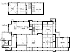Traditional japanese home floor plans