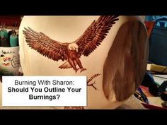 Pyrography: Should you outline your woodburnings? - YouTube
