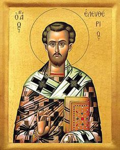 Image of St. Eleutherius feast day 6th September pray for us.
