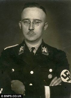 "Heinrich Himmler. #Nazi - One of HELL'S most honored guests. SS KOMMANDANT was HITLER's ""Hands on"" Executioner in the ""Final Solution"". Murdered SIX MILLION JEWS."