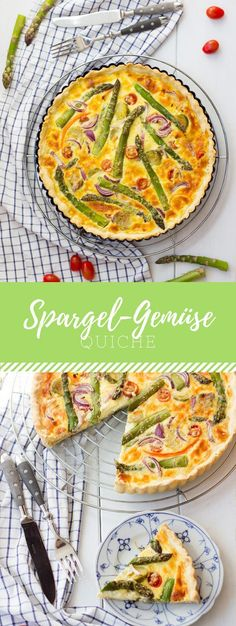 A simple and quick asparagus and vegetable quiche. The perfect recipe for spring! A simple and quick asparagus and vegetable quiche. The perfect recipe for spring! Quiche Recipes, Fish Recipes, Vegetable Recipes, Seafood Recipes, Vegetarian Recipes, Healthy Recipes, Sandwich Recipes, Vegetable Quiche, Asparagus Recipe