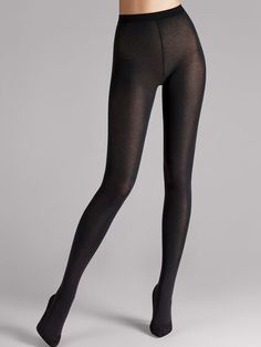 Wolford Tights, Opaque Tights, Girls In Leggings, Tight Leggings, Lingerie Accessories, Sexy Stockings, Cotton Velvet, Sexy Legs, Socks