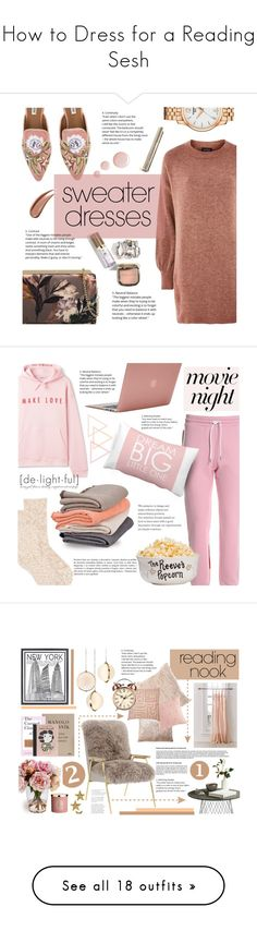 """How to Dress for a Reading Sesh"" by polyvore-editorial ❤ liked on Polyvore featuring ReadingNook, Topshop, Nine West, Tissot, MSGM, New Directions, Incase, Scapa Home, movieNight and homefashion"