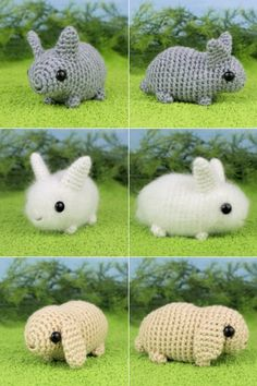Baby Bunnies - three amigurumi bunny crochet patterns