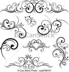 Vector - Vector scroll ornament - stock illustration, royalty free illustrations, stock clip art icon, stock clipart icons, logo, line art, EPS picture, pictures, graphic, graphics, drawing, drawings, vector image, artwork, EPS vector art
