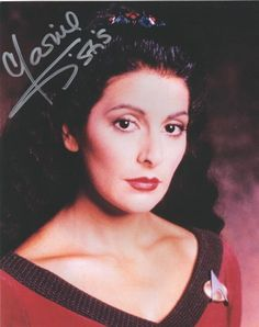 Marina Sirtis as Troi from Star Trek The Next Generation Autographed Picture | eBay