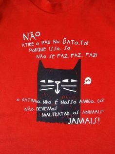 "Camiseta ""Gato"" - Pula Saci"