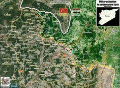 Map Update Kurd Mountain NE #Lattakia 🇸🇾: - #SAA captured strategic town of #Kinsabba & its surrounding hills