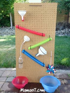 Summer is fast approaching and I'm pretty excited! Here are 24 very fun outdoor DIY projects that you can create with your kids this summer! lustige 24 Fun Outdoor DIY Projects That Will Keep Your Kids Entertained This Summer Kids Outdoor Play, Outdoor Play Spaces, Backyard Play, Outdoor Fun, Backyard Games, Outdoor Games, Water Play Activities, Fun Activities For Toddlers, Kids Water Play