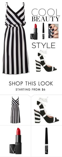 """Monochromatic Style"" by iamniharika ❤ liked on Polyvore featuring Marc Jacobs, Boutique Moschino, NARS Cosmetics and Rimmel"