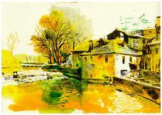 Pavia River, seen from Av Emídio Navarro