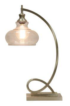Brushed Steel Metal Ornamental Table Lamp #shopgahs #ohmygahs #lamps #tablelamp #lamp #lighting #livingroom #diningroom #bedroom #entryway #hallway #familyroom #office #homeoffice #guestroom