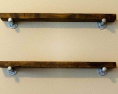 8 Floating Shelf with industrial pipe supports. by HenryLewisHome