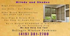 Blinds for homes in Perrysburg OH