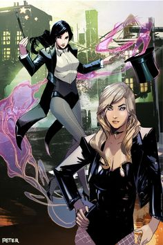 Zatanna and Black Canary by Peter Nguyen