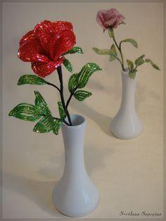 """""""3D Red Rose """" Bead Weaving Цветы и деревья из бисера, фото - Цветы и деревья из бисера от Светланы Сапегиной"""