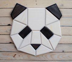 decoración de la pared de madera panda