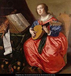 Saint Cecilia - Paulus Moreelse