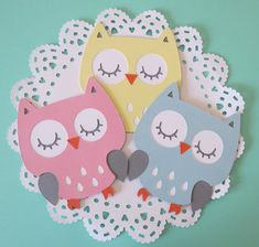 Owl Cut Outs - Owl Die Cut - Birthday Party - Baby Shower Owl - Diaper Cake Owls - Centerpiece Owls Fiesta Baby Shower, Baby Shower Parties, Owl Centerpieces, Fotos Baby Shower, Owl Diaper Cakes, Create A Critter, Diy Banner, Space Party, Summer Crafts