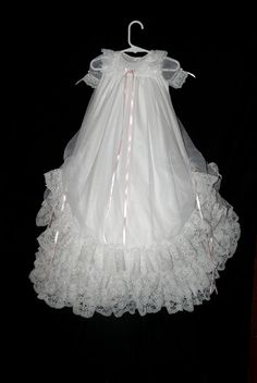 Christening Gown Christening Dress  Blessing Gown by Debragardner, $145.00