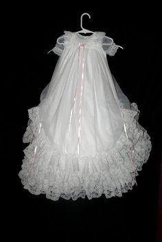 Christening Gown Christening Dress Blessing Gown by Debragardner, $145.00