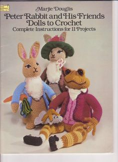 peter rabbit patterns to sew or crochet | Peter Rabbit and Friends Dolls Crochet Pattern by AerieDesigns