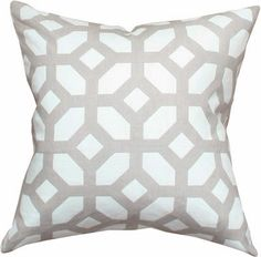 Courtyard, Oyster Decorative Throw pillow